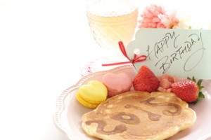 pancake art 2015 and birthday greeting card